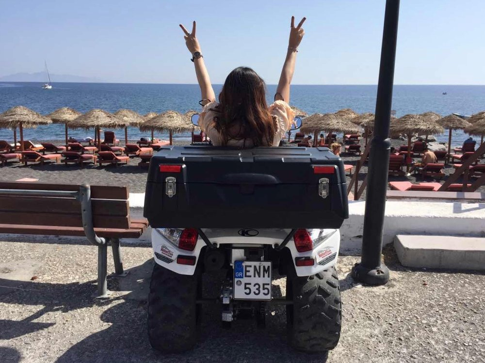 santorini black beach quad bike