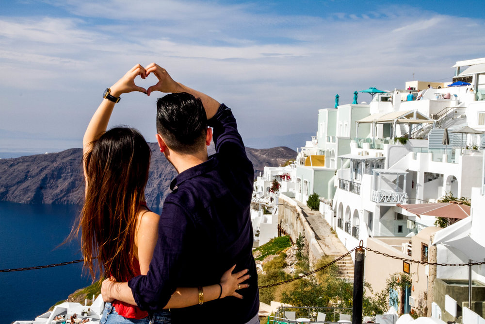 santorini love romantic