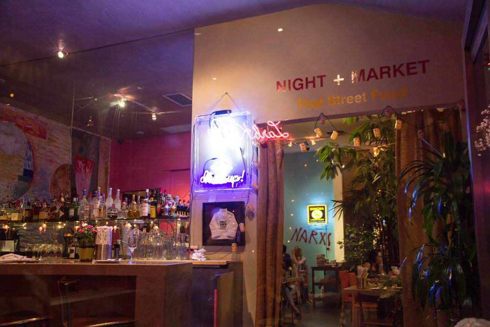 night + market thai food LA west hollywood