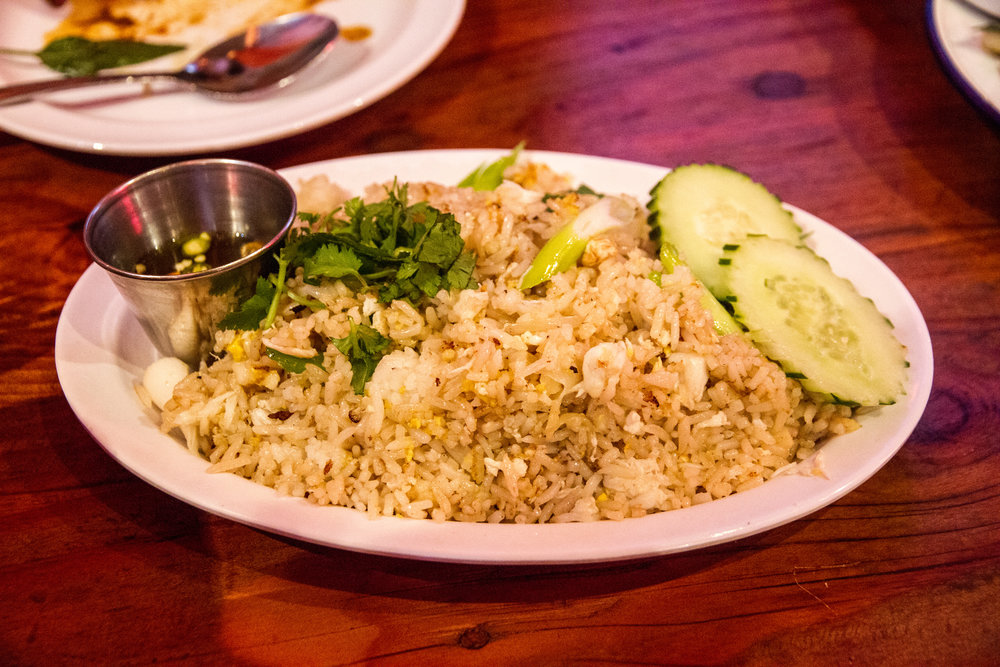 night + market fried crab rice