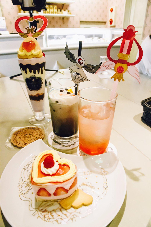 sailor moon q-pot cafe harajuku tokyo japan desserts