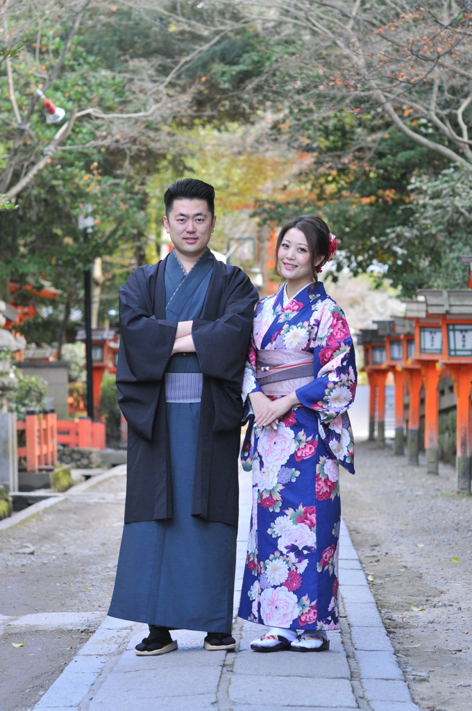 Dressed up in kimonos at Kyoto, Japan (2015)