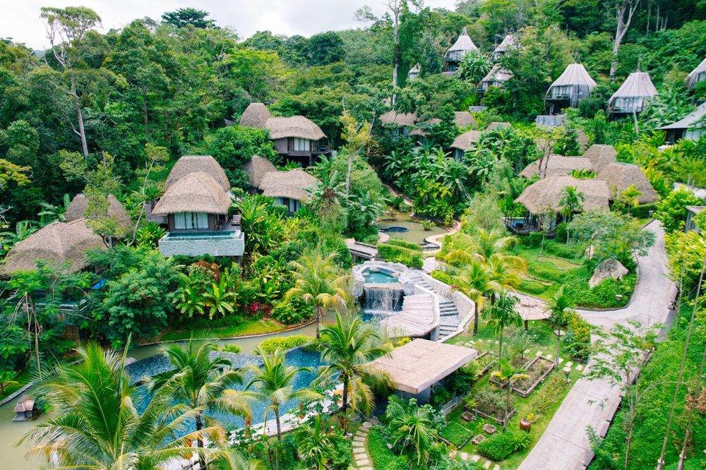 渡假村的鳥瞰圖