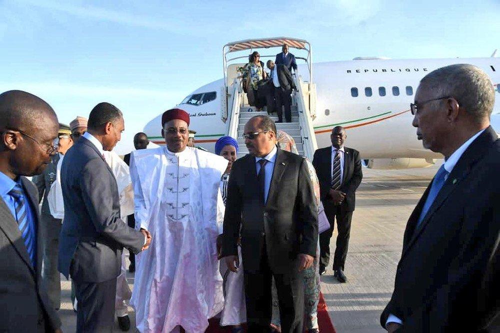 Arrivée mercredi de SEM Issoufou Mahamadou à Nouakchott 5.jpg