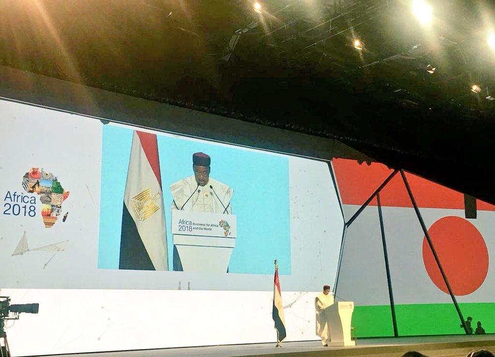 1d82325d665158 ... Issoufou Mahamadou, President De La Republique Du Niger Et Champion De  La Zone De Libre-Echange Continentale Africaine (Zlecaf) Forum Afrique 2018