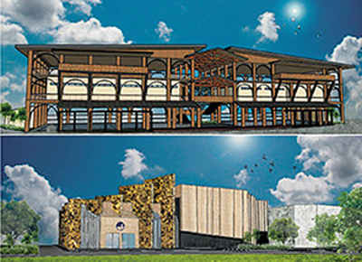 Architects Perespective of the Performing Arts School and Theater