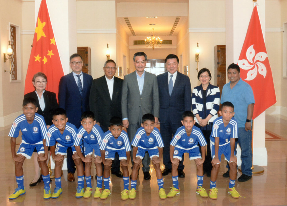 The Honorable Chief Executive of Hong Kong received some of Tuloy Foundation's Board members and Kids