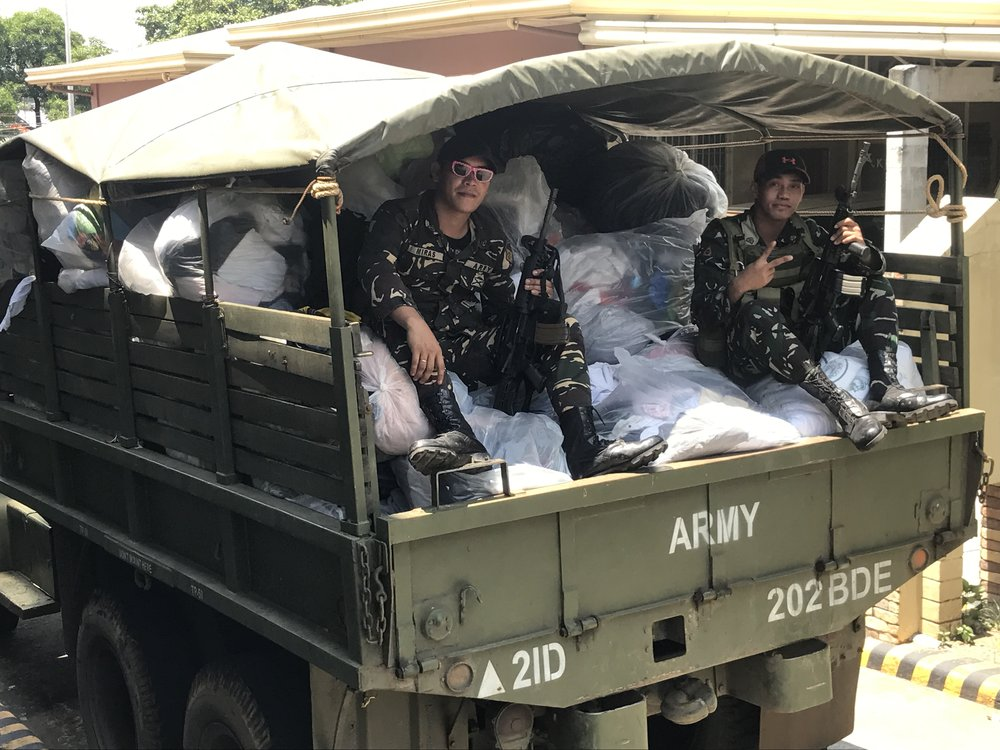 More than five truck loads in all have been sent by Tuloy since the mobilization started.