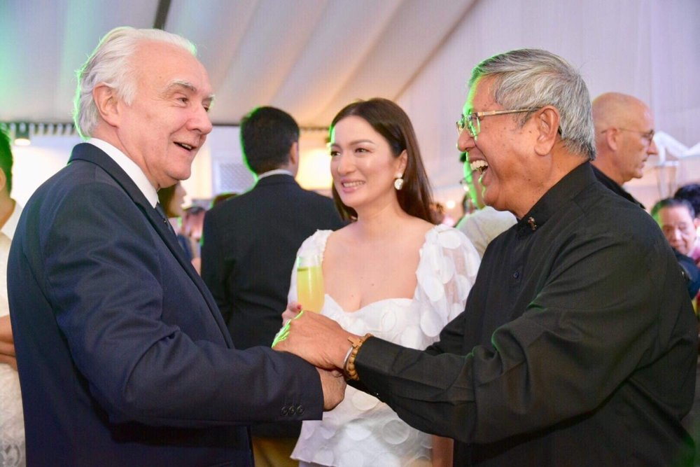 Chef Alain Ducasse with Fr. Rocky and Mrs. Cherry Lyn Uy