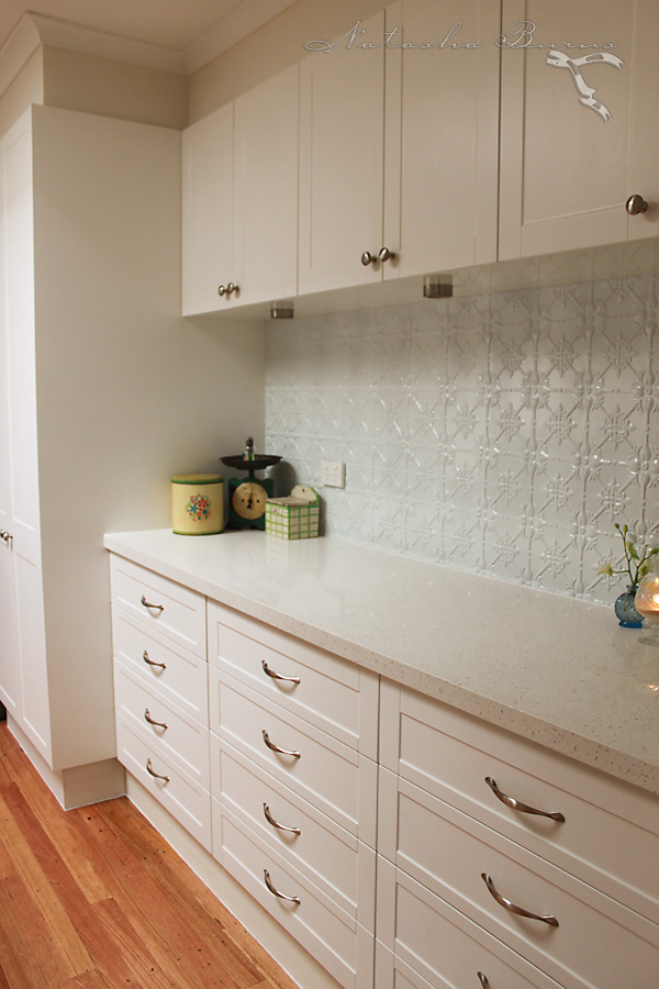 Pressed Metal Kitchen Splashback
