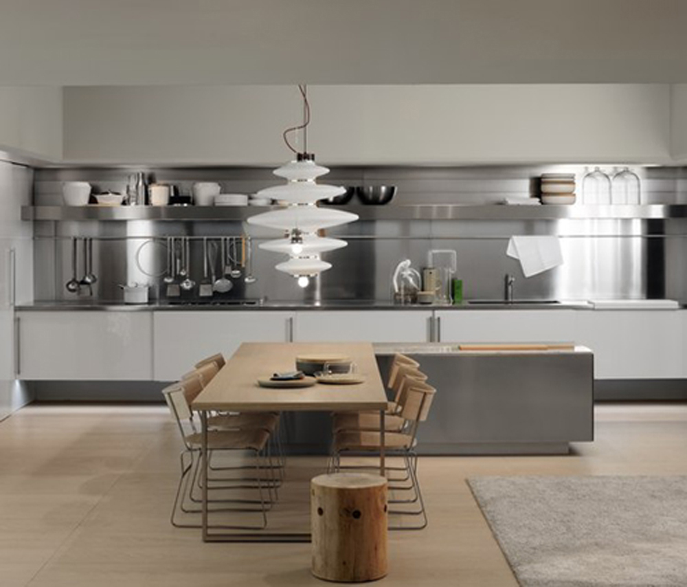 Stainless Steel Splashback Kitchen