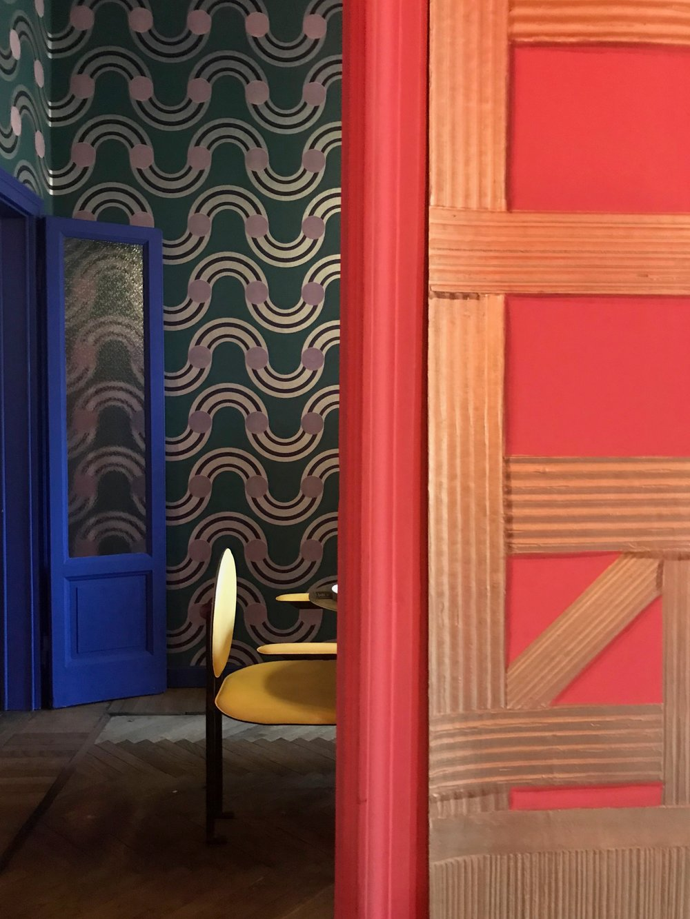 Retro inspired colours and patterns