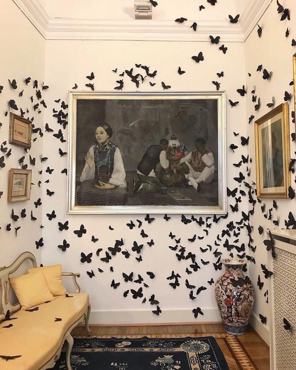 L'Ora Dannata Exhibition by Carlos Amorales at the Adolfo Pine Foundation
