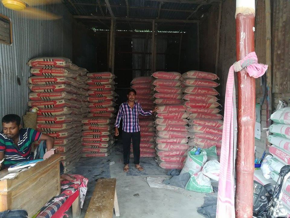 Murad Sheikh in his Newly Opened Cement Store
