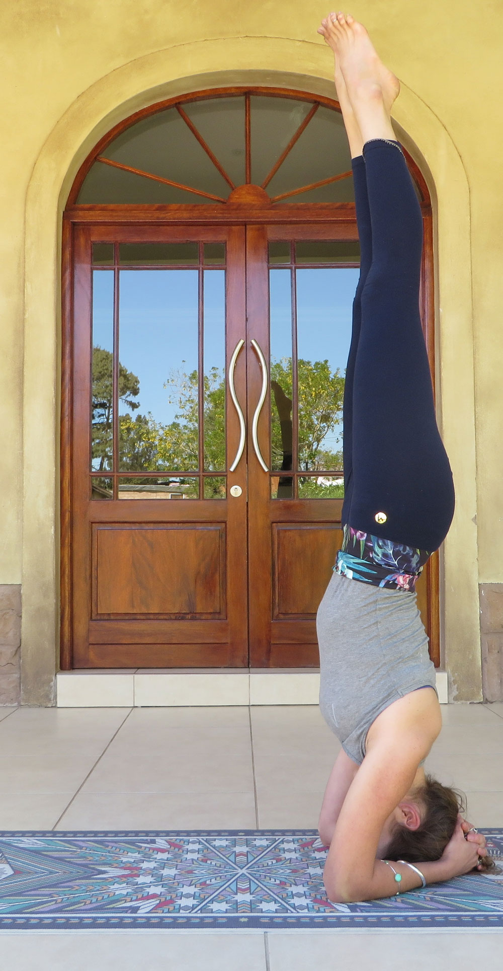 Salamba sirasana - supported headstand pose and the 'king of asanas'. I also use headstands as a way to revive concentration/focus during lengthy work periods.