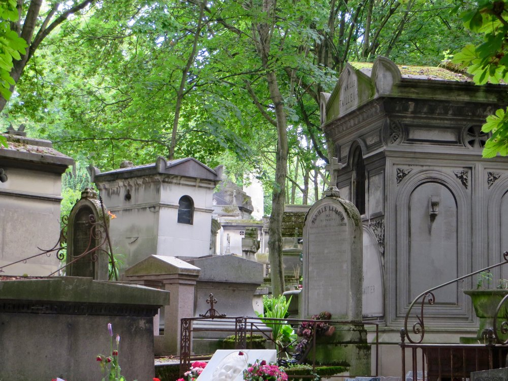 A rebirth, again.  Photo by author; Père Llachaise Cemetery, Paris.