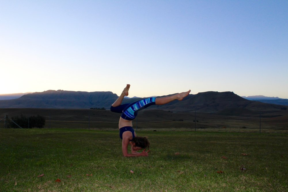 Image author's own. Post hike yoga in the Underberg, South Africa.