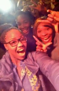 Townsend's selfie with Williams' sisters