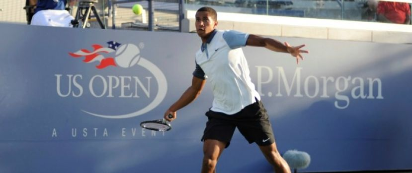Michael Mmoh at 2014 US Open. Photo by: Calvin Rhoden/New York Tennis Magazine