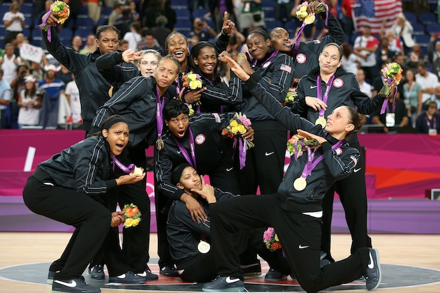 Team USA Women's Basketball Team at London Olympics in 2012. Getty Images/Christian Petersen