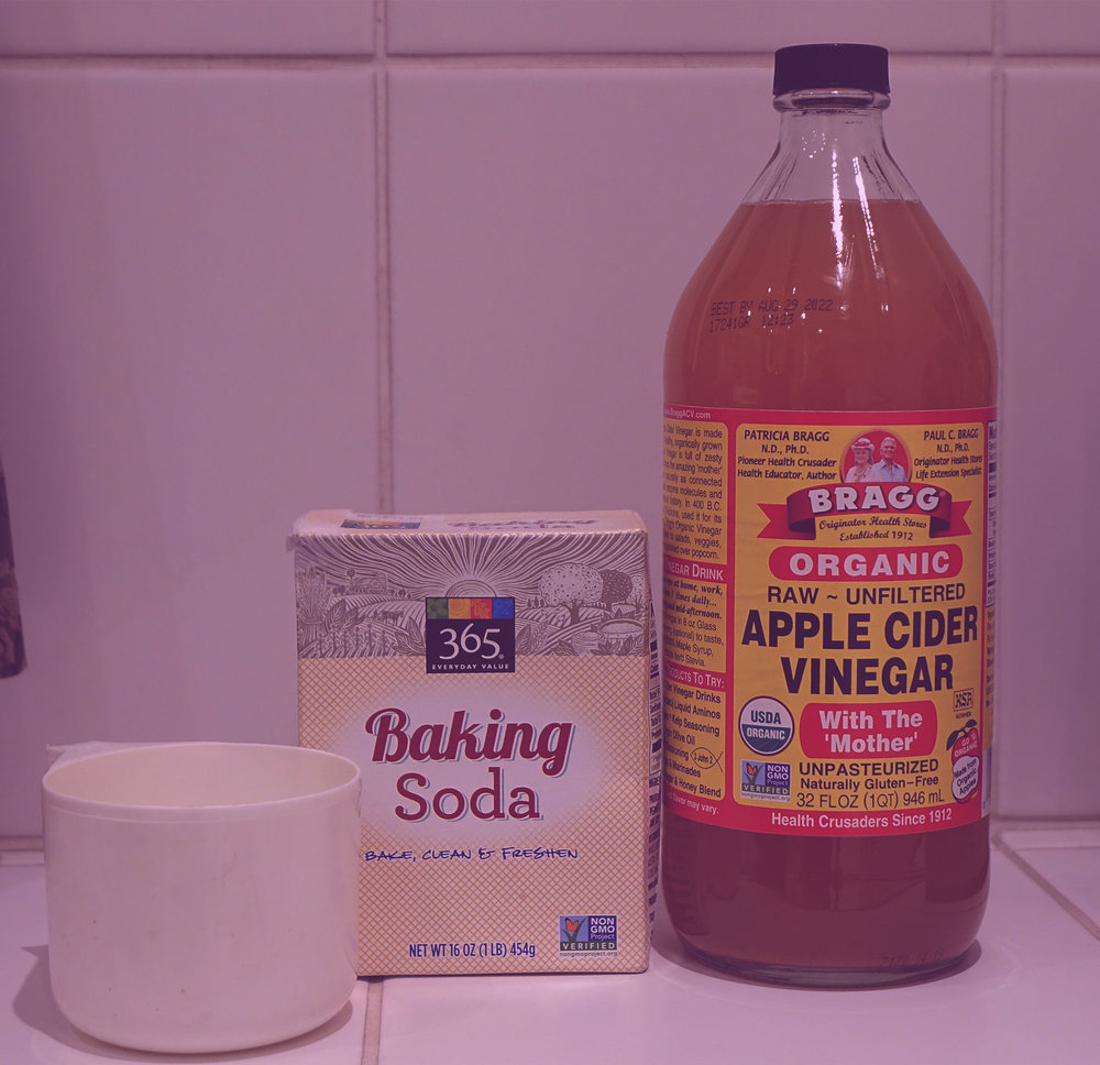baking soda apple cider vinegar