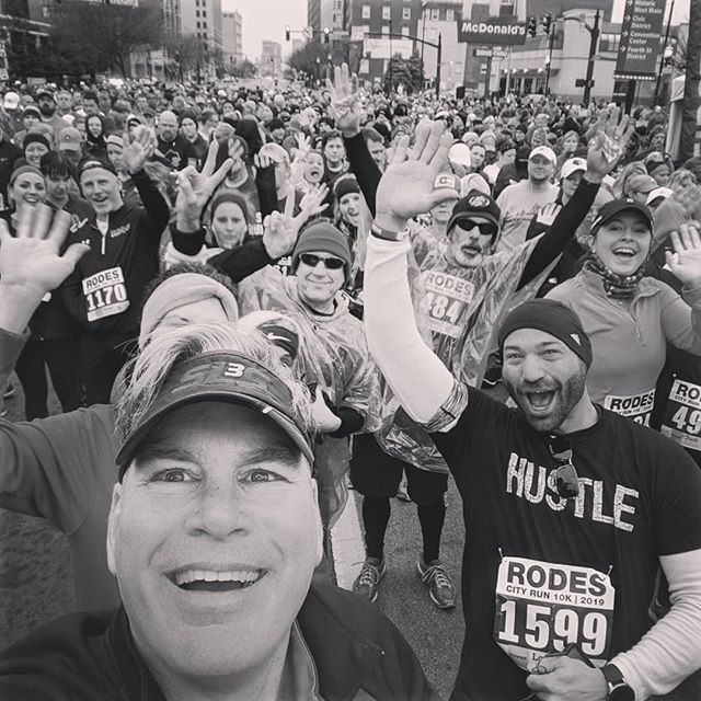 "When you are in a group of positive people, what do you do?  Me; I yell ""Everybody wave!"" and then take a picture!  As I mentor more business people into keeping a #PUSH both physically and professionally, I have come to realize that it's also an introduction to a crowd of positive charged people. With that #PUSHpastlimits spirit that all runners, triathletes, and amateur athletes have, it creates a HIGH that carries over into all aspects of life. Those that constantly achieve, are always willing to #PUSHharder ... And if you wanted to increase your network of people that influence you, what a better place to look than local races! Positive people bring positive results!  #emotionalmapping #entrepreneurship #endurance #empowerment #empowerhumanity #PUSHpastpain #PUSHcoach #perseverance #personaldevelopment #professionaldevelopment #businessdevelopment #executivecoach #bethelight #confidence #doitbecauseitstherightthingtodo #effort #financialfreedom #getmoving #rodescityrun #runtheville #502keepsfit"