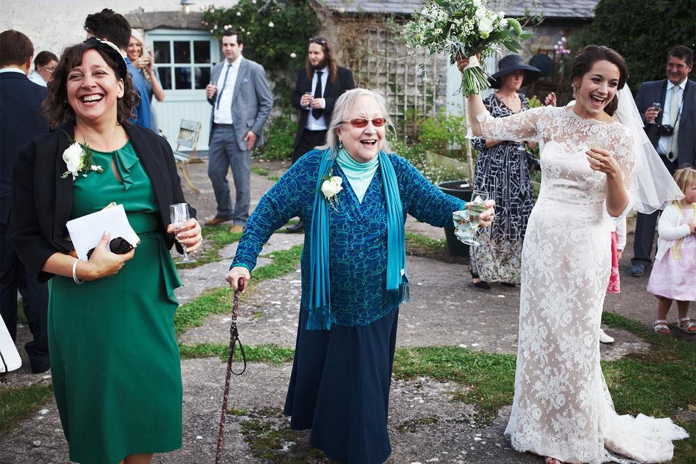 Keepsake wedding photography - Bride with mother of the bride and grandmother of the bride