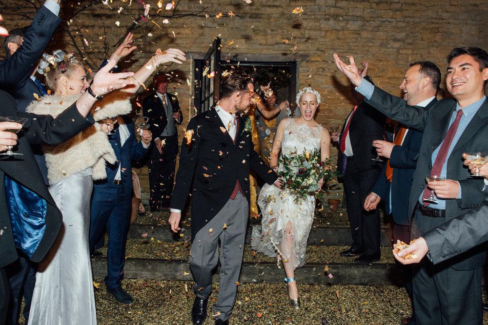 Keepsake Weddings Keepsake wedding photography - Confetti shot Bride and Groom