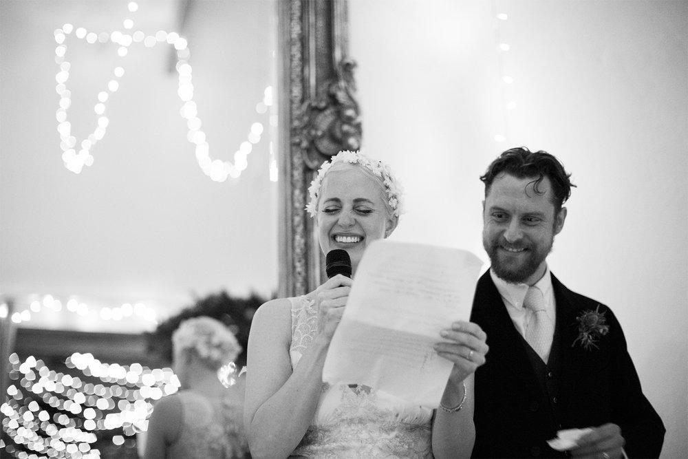 Keepsake Weddings Keepsake wedding photography - Bride and Groom speech