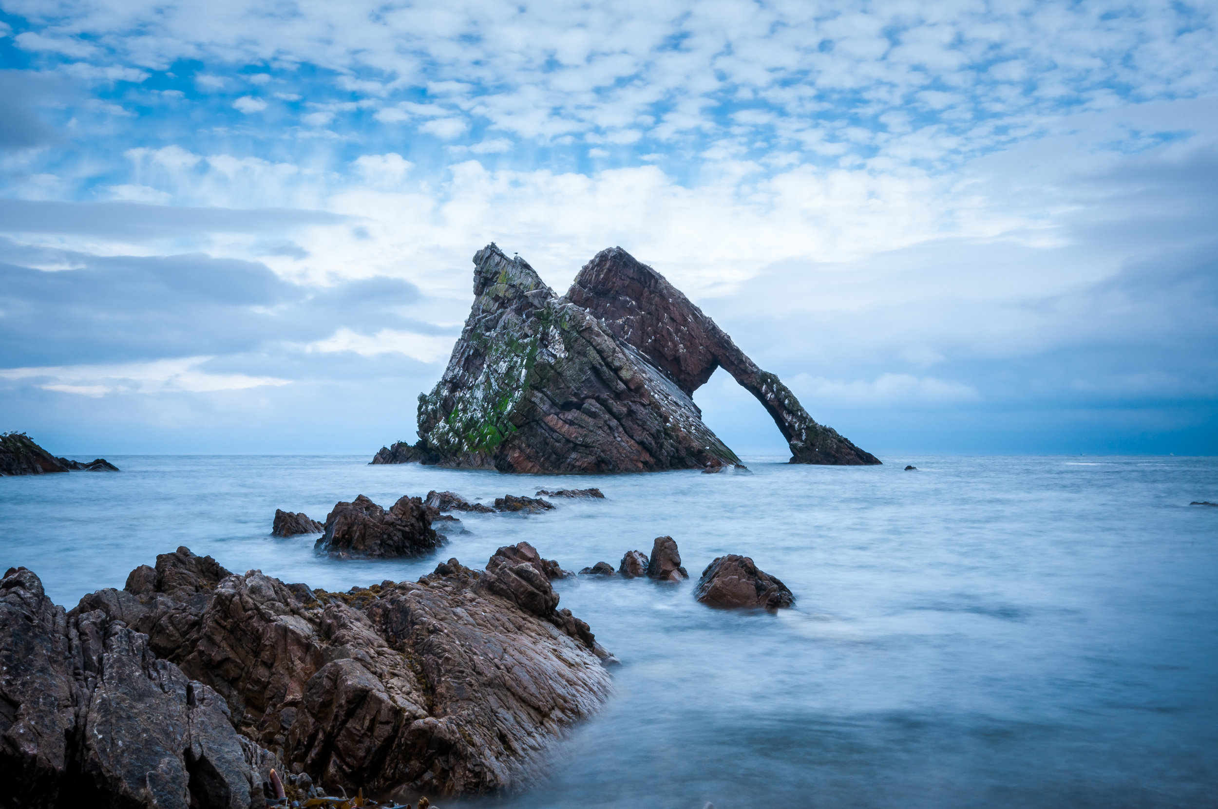 Beautiful rock formation on the north-east coast of Scotland. Again using the Lee Little Stopper here. The sky was so bright, I could have really done with the Big Stopper!