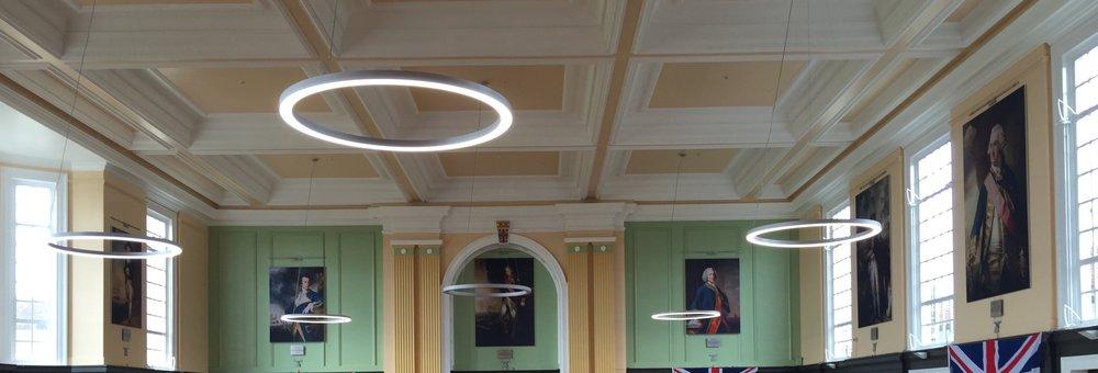 Dining hall at Royal Hospital School