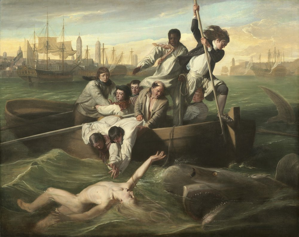"Original ""Watson and the Shark,"" by John Singleton Copley, painted 1778."