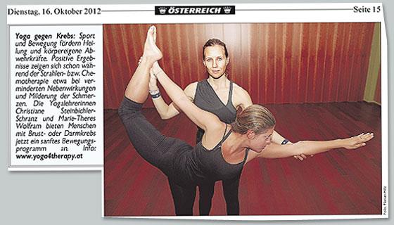 Pressebericht 2012 - Mit Yoga Krebs bwhandeln