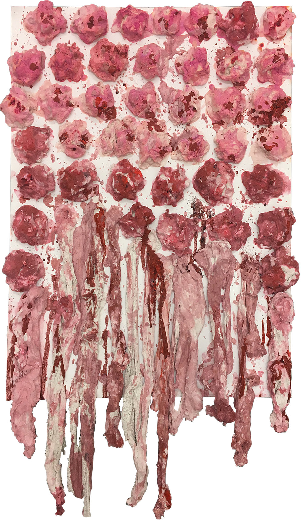 """Blood Clots"" - Mixed media & ink on canvas - 50 cm x 70 cm"