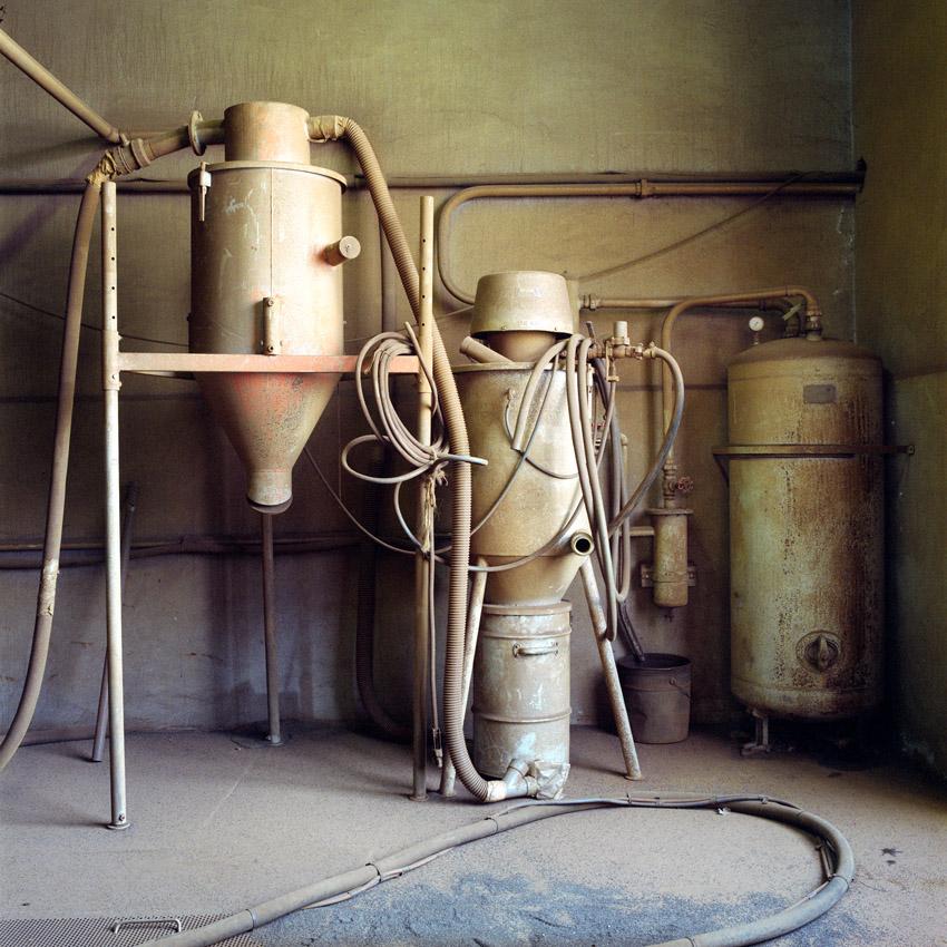 Systeme d'aspiration et de sablage à l'atelier des balises