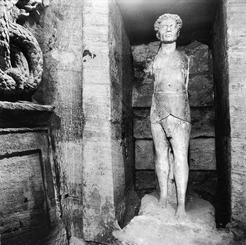 Dans les catacombes de Kom ash-Shuqqafa à Alexandrie.