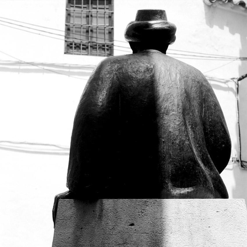 Statue de Maïmonide dans l'ancien quartier juif (Juderia) de Cordoue