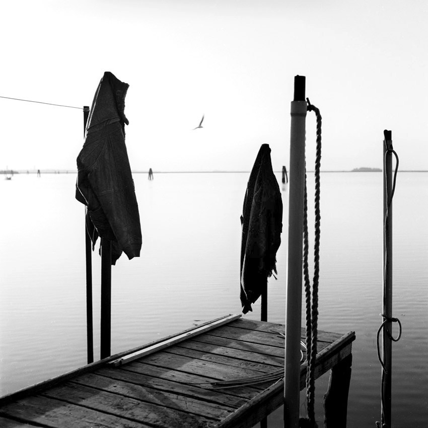 Ponton sur l'île de Torcello, près de Venise