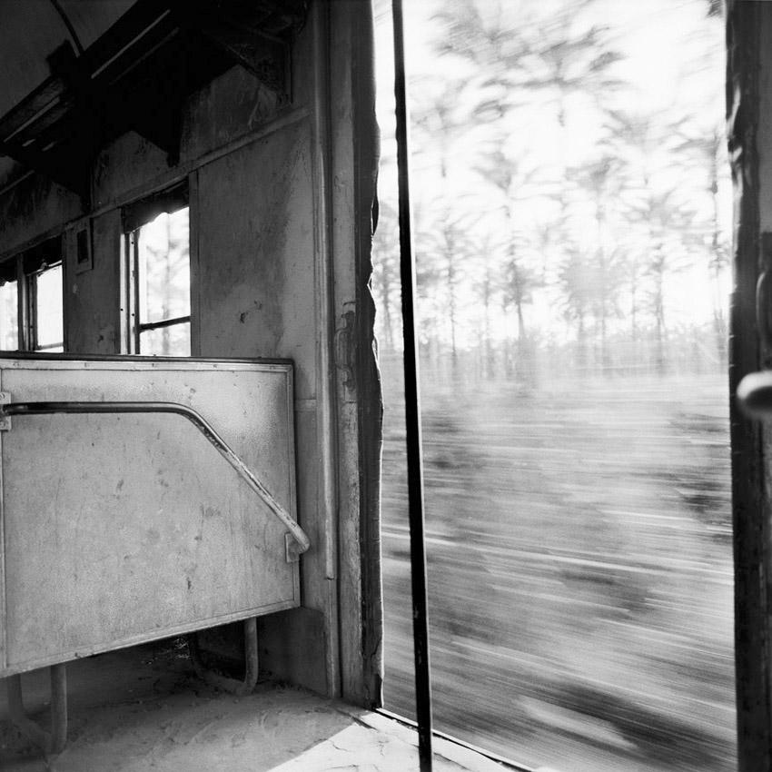 A l'intérieur du train reliant Le Caire à Alexandrie