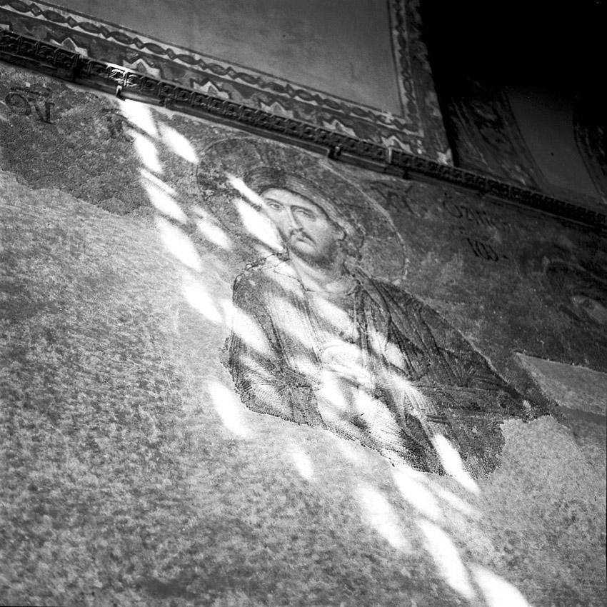 Portrait du Christ dans la Basilique Sainte-Sophie à Istanbul.