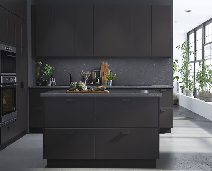 All Black Kitchens Can Soften Industrial Spaces And Make Mid Century Modern  Chic.