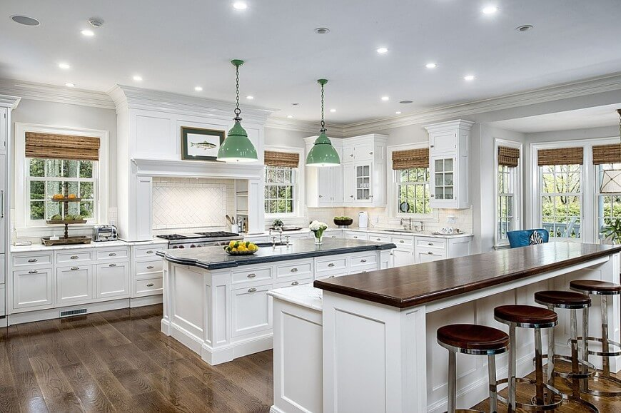The Double Island Trend Practical Luxury Platinum Kitchen Designs