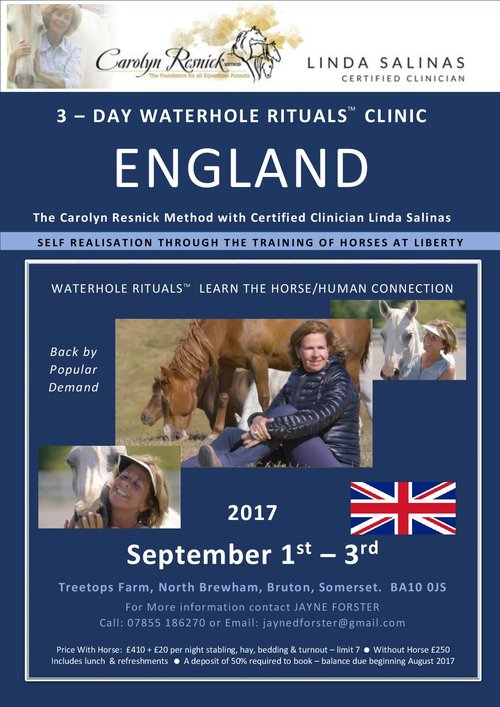 ENGLAND - SELF REALIZATION THROUGH THE TRAINING OF HORSES AT LIBERTY - WATERHOLE RITUALS - Sep 1, 2017 – Sep 3, 2017
