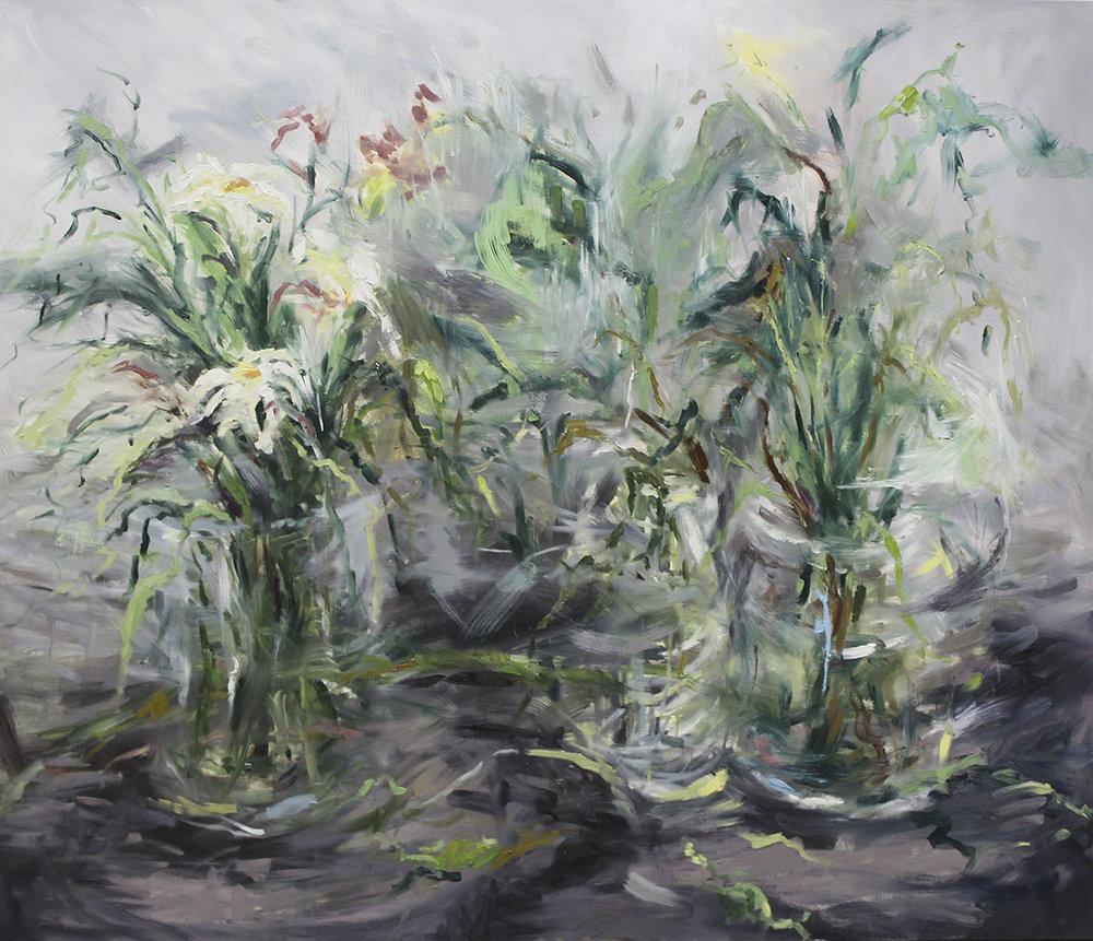 Haze   6' x 5' , oil on canvas  2015, sold
