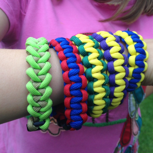 Survival bracelets.JPG