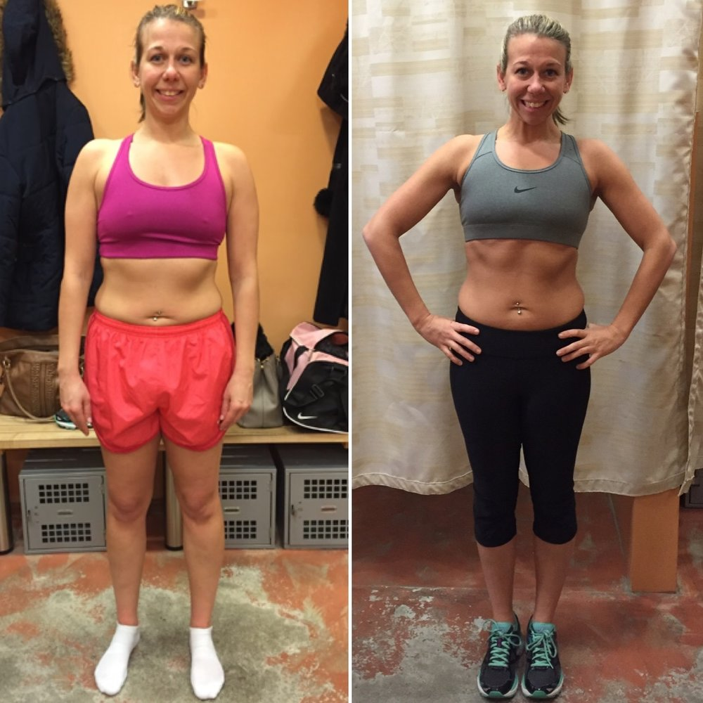 Mallory - I had been working out for over 10 years at least 5 days a week, eating less than 1,000 calories a day. However, even after all the workouts and dieting, I was never happy with my results. Following my engagement to my now husband, my focus was on getting my body perfect for the wedding. After meeting coach Lee, I could tell she was someone who could push me where I needed to be. Luckily, she agreed to train me. The program she built for me not only included HIIT and strength workouts but more food! She taught me all about tracking my macros. It made it extremely easy to see where I was lacking calories and allowed me to follow the full program. I've lost 16 inches in under 5 months and had a perfect wedding. I couldn't have gotten any more compliments about my tone and the change in my body at my wedding. I can't wait to reach more of my goals with Coach Lee!