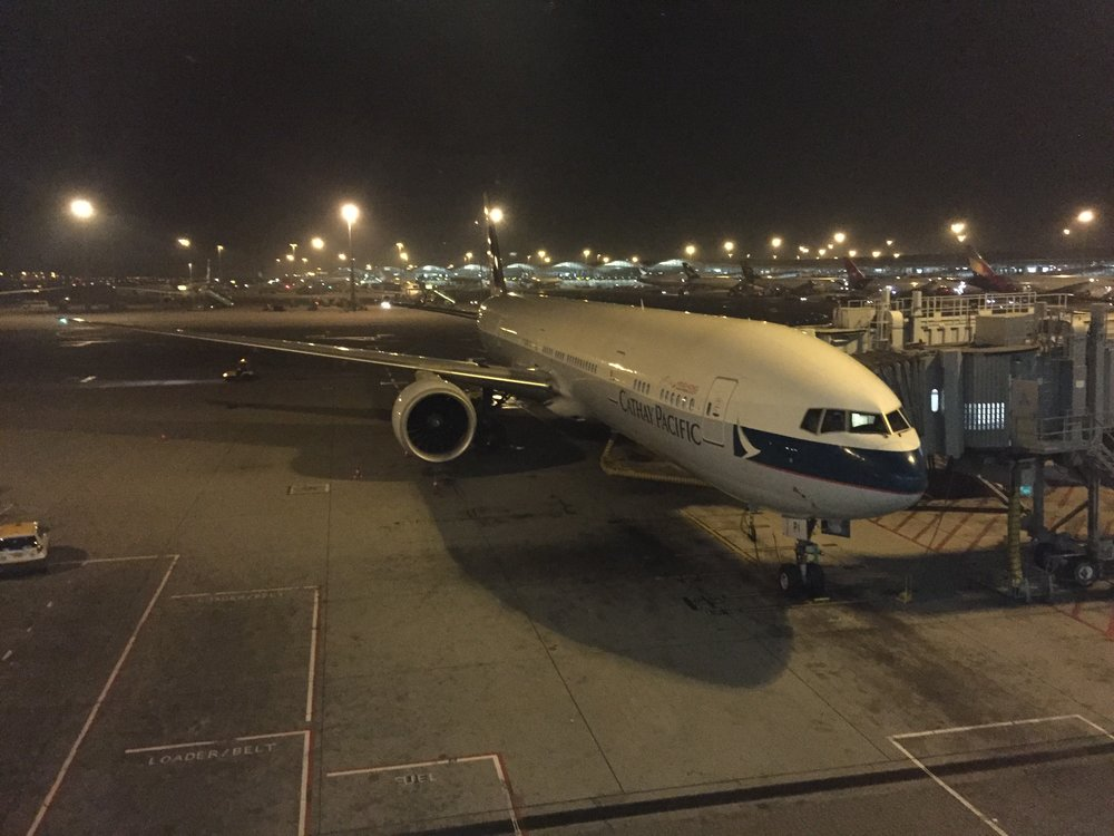 The 777-300ER waiting to take us to LAX