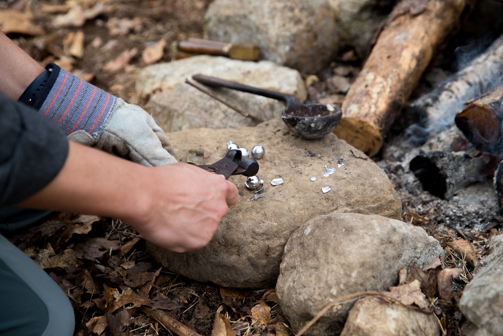 Forging  bullets before firing them from a civil war era musket
