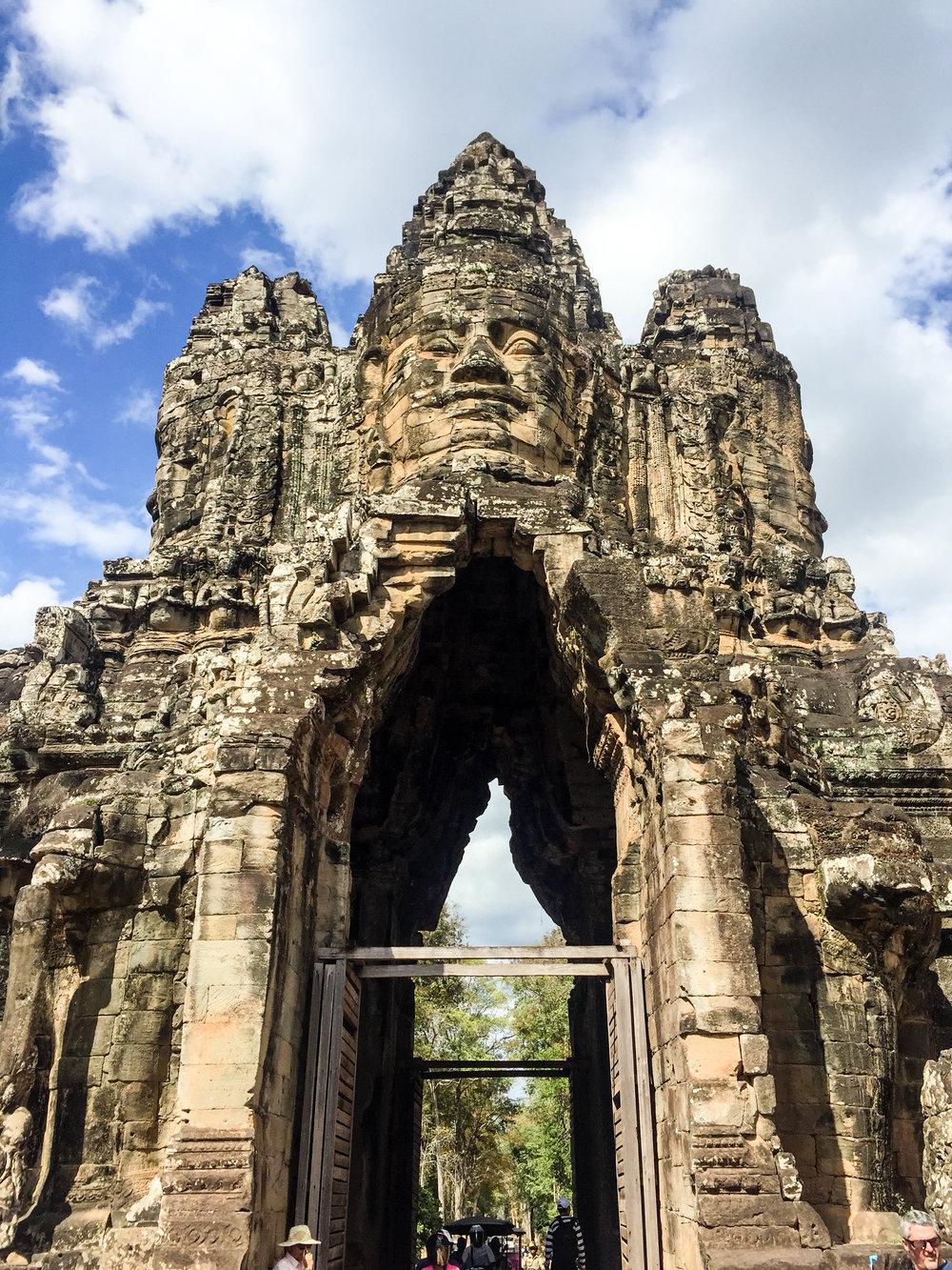 Visiting Angkor Thom Temple