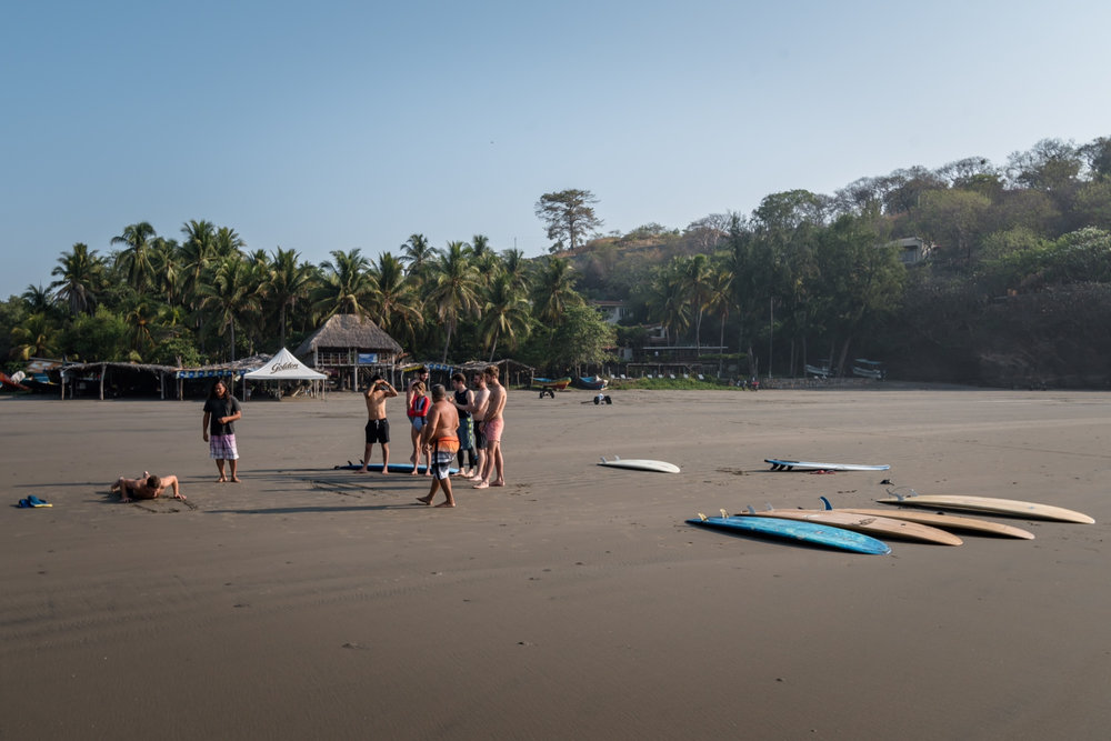 learning the basics before heading out to the waves